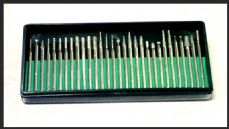 Diamond electroplated burrs miniature 30 piece.